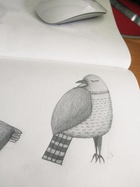 ooiseau crayon 2