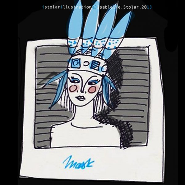 mask indienne draw