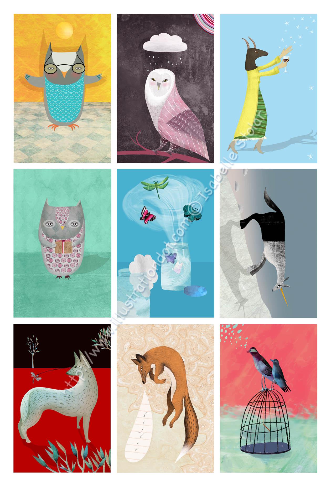 9 cards  essai print