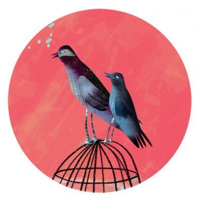 birds on cage round 2