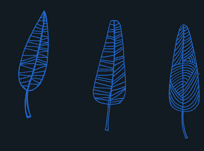 feuille bleues