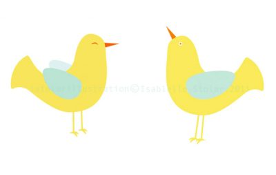 yoga bird yellow double