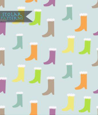 pattern bottes bleues