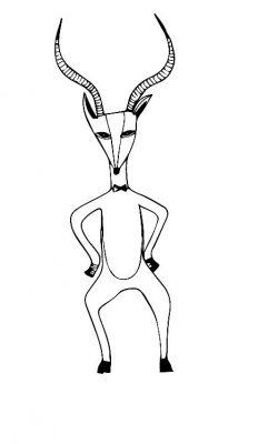 gazelle b w