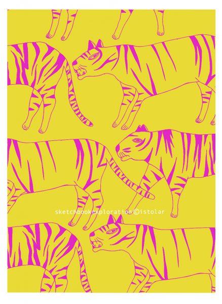 tigre faux pattern 2