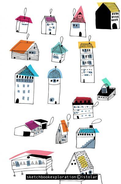 des maisons page couleur copy