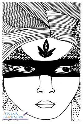femme chignon oiseau bw blog 74