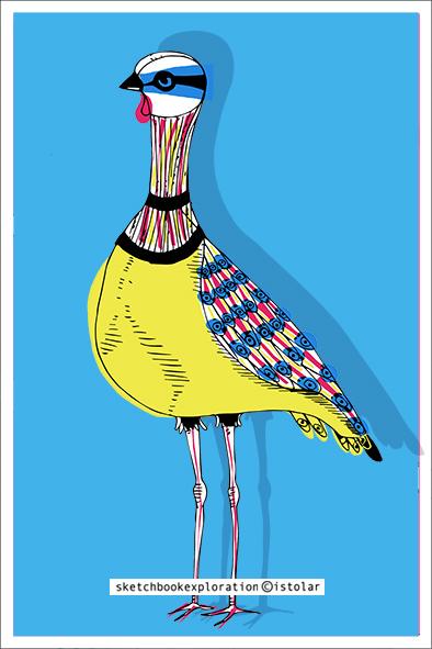 carte oiseaux bleu mini