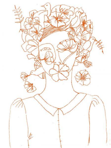 femme fleur sur sachet 3 75
